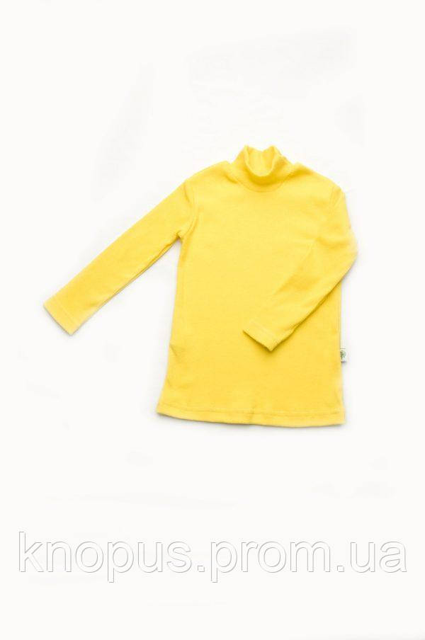 Гольф детский желтый с начесом, Модный карапуз, размеры  86, 98