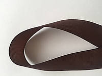 Лента репсова 2.5 см  23 м коричневая, фото 1