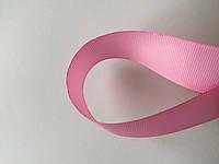 Лента репсова 2.5 см  23 м розовая, фото 1
