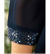 / Размер 50-52,54-56,62-64 / Женское элегантное платье для праздника 755-1-Темно-Синий, фото 3