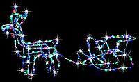 """Новогодняя гирлянда """"Олень"""" 123 см (Разноцветный + флеш)"""