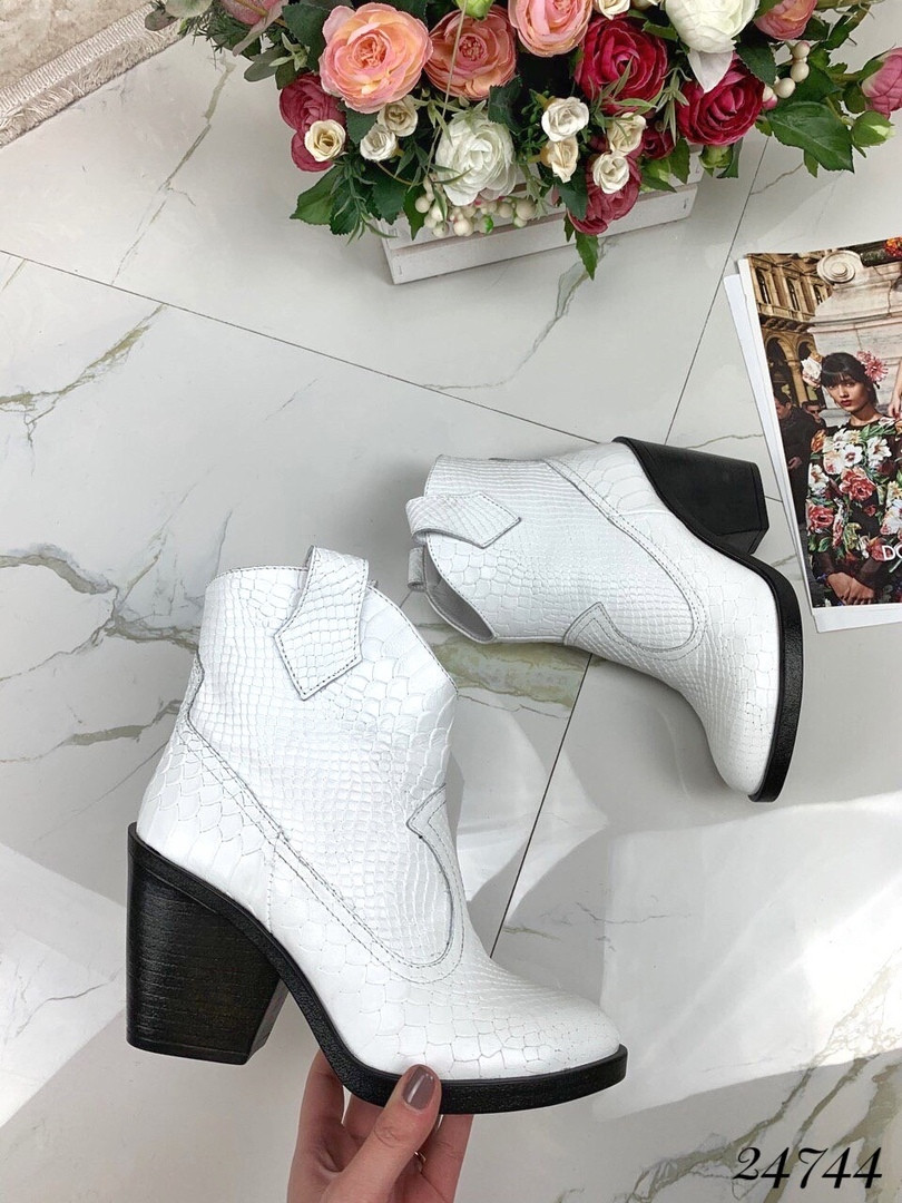 Ботинки казаки под питон