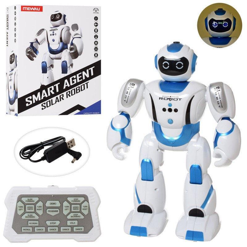 Умный Робот Смарт 35 см на радиоуправлении, Smart Agent, ходит, танцует, звук (англ), реагирует на руку, ND601