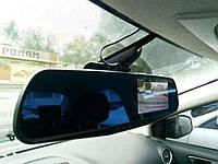 Зеркало-видеорегистратор+камера заднего вида в машину авто экран 4,3 дюйма FULL HD регистратор 8/5 Мп 3в 1