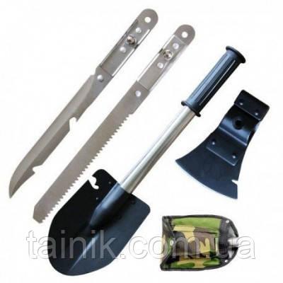 Саперная лопата 5 в 1 + Нож, Топор, Пила, Открывашка.
