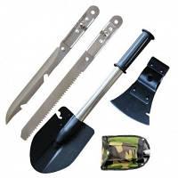 Саперная лопата 5 в 1 + Нож, Топор, Пила, Открывашка., фото 1