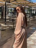 Сукня жіноча шовкове графіт, хакі, шампань, фото 9