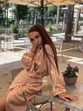 Сукня жіноча шовкове графіт, хакі, шампань, фото 8