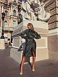 Сукня жіноча шовкове графіт, хакі, шампань, фото 5