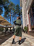Сукня жіноча шовкове графіт, хакі, шампань, фото 4
