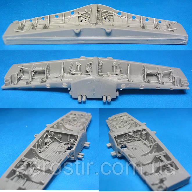 Смоляные ниши шасси P-51 Mustang 1/48 Tamiya/ICM - Vector 48032