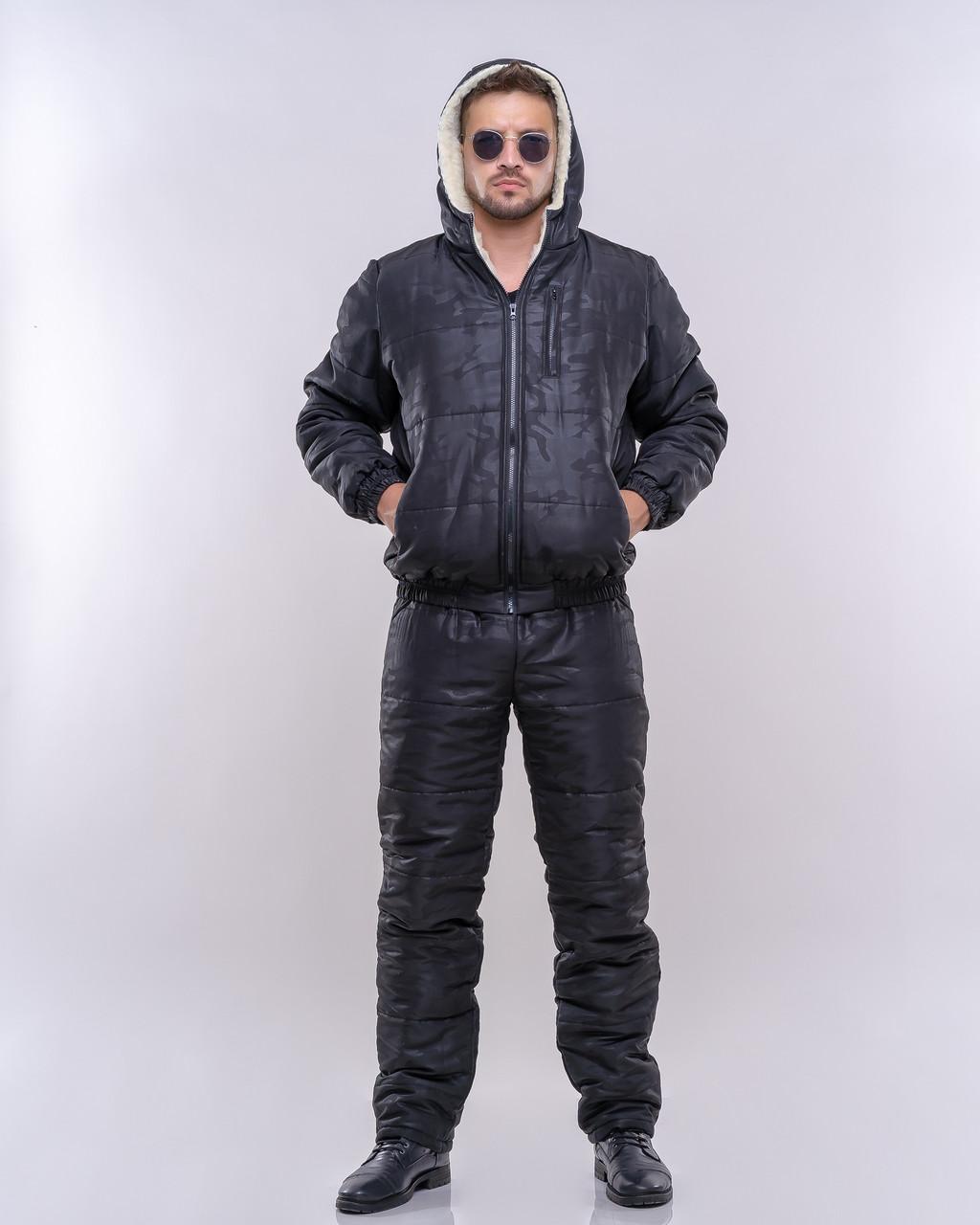 Мужской спортивный костюм на меху