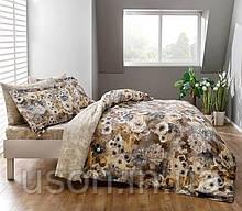 Комплект постельного белья Тм Тас сатин digital полуторный размер Avalon kahve