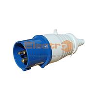 Вилка силовая переносная РС-013 2Р+PE 16А 220В IP44 Electro