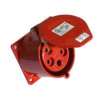 Розетка силовая стационарная внутренней установки (врезная) РC-325 3P+PE+N 32А 380В IP44 Electro