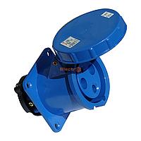 Розетка силовая стационарная внутренней установки (врезная) РC-333 2P+PE 63А 220В IP54 Electro