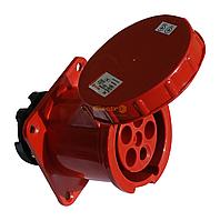 Розетка силовая стационарная внутренней установки (врезная) РC-335 3P+PE+N 63А 380В IP54 Electro