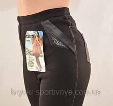 Лосины женские на меху с задними карманами  и содержанием верблюжьей шерсти - Ласточка, фото 2