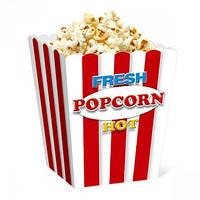 Коробочка для попкорна 0.7 л. Классика красный