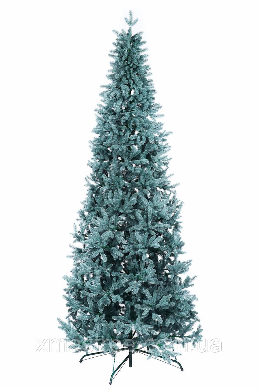 Элитная голубая искусственная елка литая 300