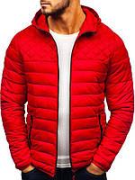 Мужская Осенняя Красная Куртка