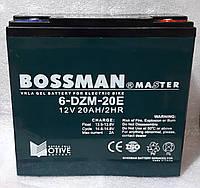 Аккумуляторы свинцово кислотные  BOSSMAN MASTER 12v20a