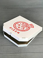 Коробка для пиццы c рисунком Pizza 400Х400Х40  мм (Красная печать), фото 1