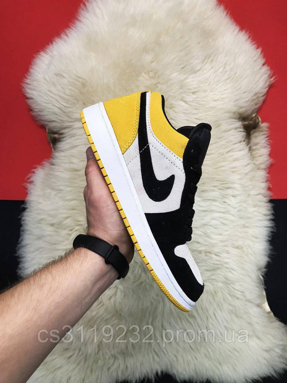 Мужские кроссовки Nike Air Jordan 1 Mid Yellow Black (многоцветные)