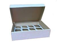 Коробка для капкейков, кексов и маффинов 12 шт 330х255х80 мм.