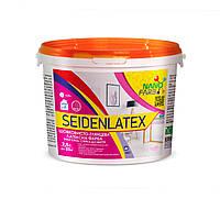 Інтер'єрна шовковисто-глянсова латексна фарба Seidenlatex Nano farb 2.5 л