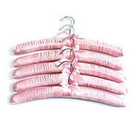 Набір з п'ятьох м'яких вішалок, довжина 38 см.,розового кольору Helfer 50-31-079pink