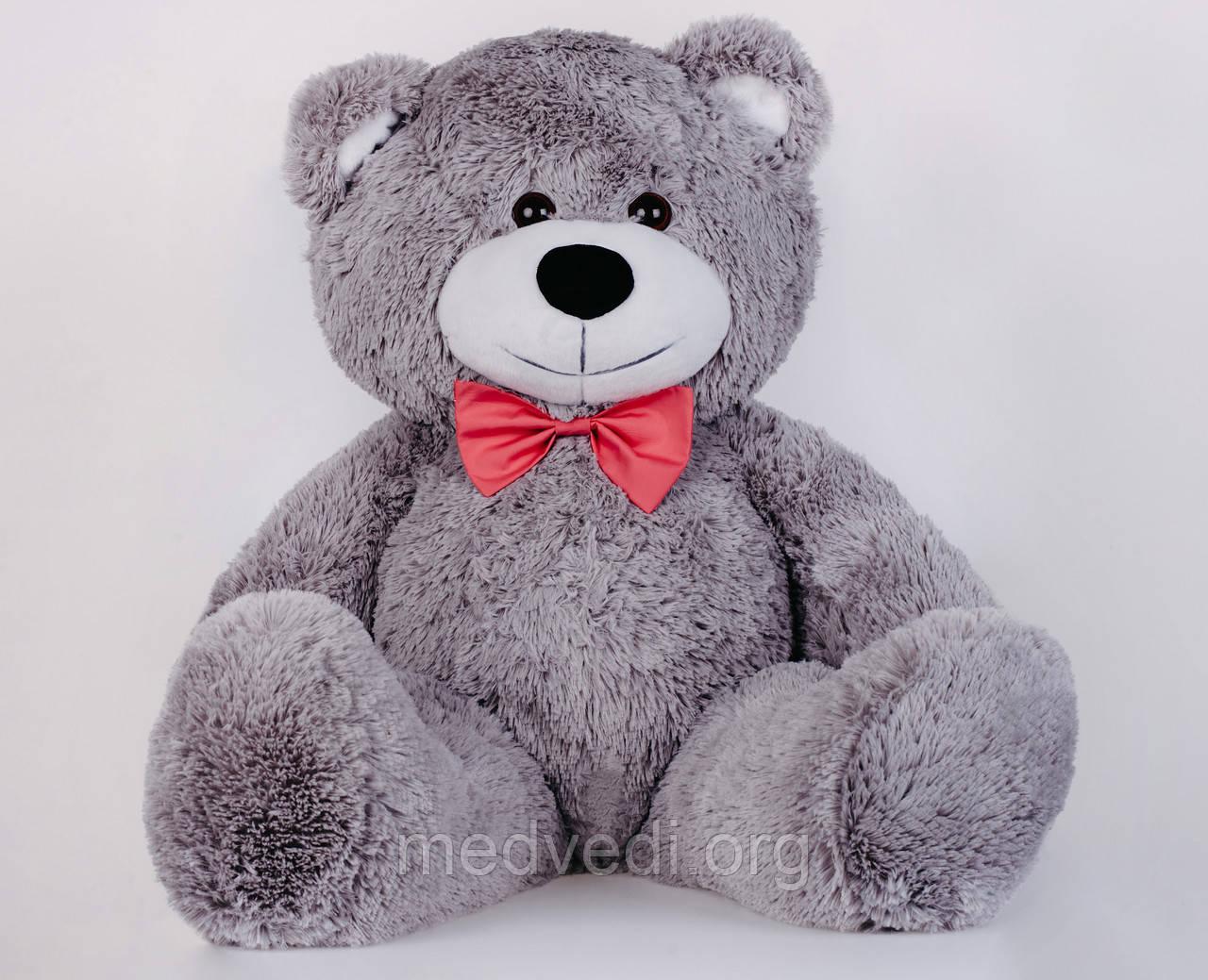 Мишка плюшевый Yarokuz Джон 110 см Серый