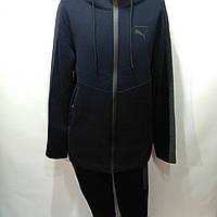 Мужской теплый спортивный костюм Puma / трикотажный / флис / синий, фото 1