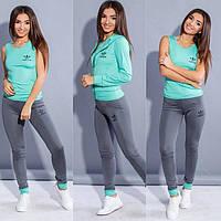 Костюм для фитнеса тройка. Женский костюм для спорта Adidas. Женская спортивная одежда
