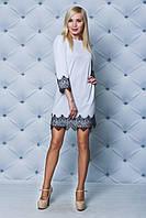 Платье женское с кружевом белое