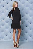 Платье женское с кружевом черное