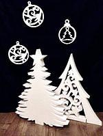Елка из Пенопласта Декорации на Новый Год 30-100 см Ёлочка Объемная Большая Новогодние Украшения, фото 1