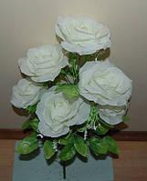 М-487  Роза открытая 6 голов 65х13  см