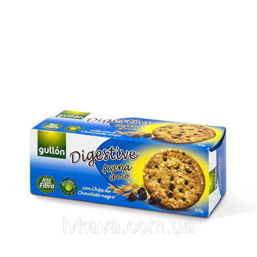 Печенье овсяное  Gullon Digestive Avena choco  , 425 гр