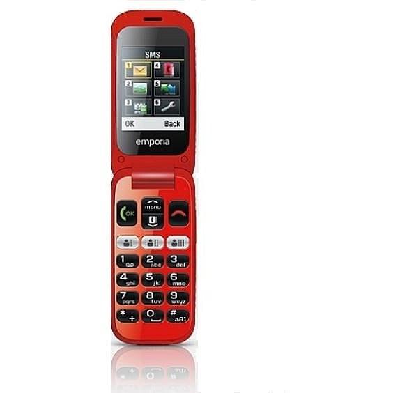 Мобильный телефон Emporia One v200 Black/Red (EN,FR,DE)
