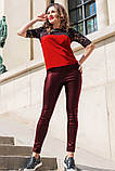 Кожаные брюки моделирующие фигуру 42-60р, фото 3