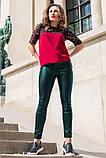 Кожаные брюки моделирующие фигуру 42-60р, фото 6