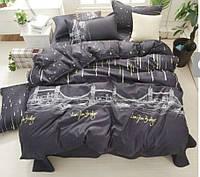 Модное постельно белье евро размер. Ткань люкс сатин.