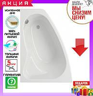 Асимметричная акриловая ванна 140x100 см Cersanit Sicilia New левосторонняя