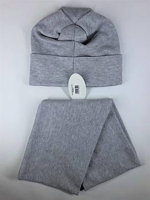 Комплект трикотаж (шапка и шарф-снуд) Flirt Венгрия One Size серый, фото 2