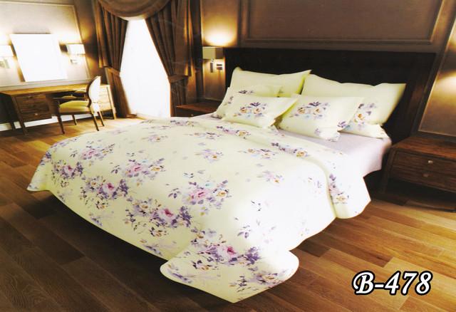 Двуспальное постельное белье Тет-А-Тет (нестандарт) В-582 бязь