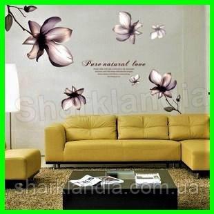 Наклейка интерьерная виниловая настенная Орхидеи на стены цветы