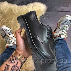 Мужские классические туфли Dr Martens 1461 Mono Black (черный)