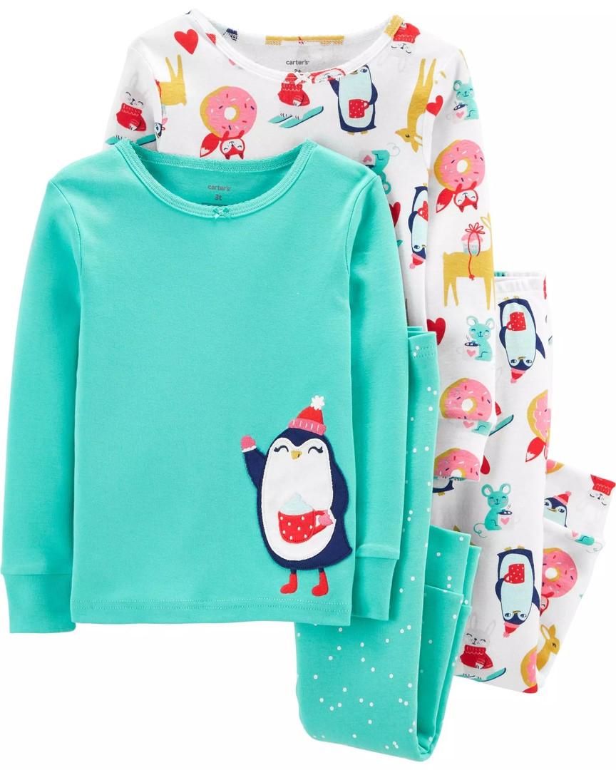 Дитяча трикотажна піжама Картерс для дівчинки (поштучно)