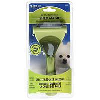 Инструмент для линяющей шерсти собак Safari Shed Magic New средний